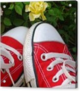 Red Sneakers Acrylic Print