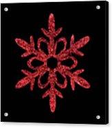 Red Snowflake Ornament Acrylic Print