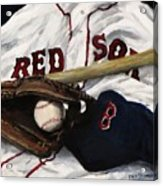 Red Sox Number Nine Acrylic Print by Jack Skinner
