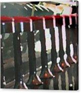 Red Stools Acrylic Print