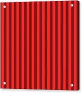 Red Striped Pattern Design Acrylic Print