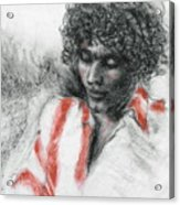 Red Stripes Acrylic Print