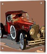 Red Stutz Acrylic Print