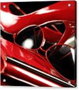 Red Stylish Accessories Acrylic Print