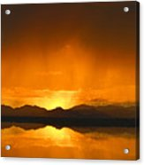 Red Sun Down Acrylic Print