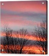 Red Sun Set Acrylic Print