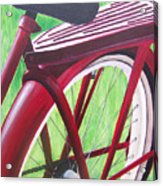 Red Super Cruiser Bicycle Acrylic Print