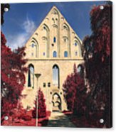 Red Surreal Abbey Ruins Acrylic Print