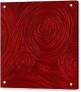 Red Swirl Acrylic Print