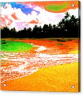 Red Tide Green Tide Acrylic Print