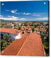 Red Tile Roofs Of Santa Barbara California Acrylic Print