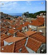 Red Tiled Roofs Of Dubrovnik Acrylic Print