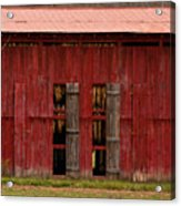 Red Tobacco Barn Acrylic Print