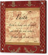 Red Traditional Faith Acrylic Print