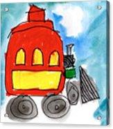 Red Train Acrylic Print