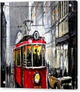 Red Tram Acrylic Print