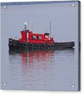 Red Tug On Lake Superior Acrylic Print