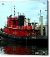 Red Tugboat Acrylic Print