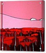 Red Tuscan Longview Acrylic Print