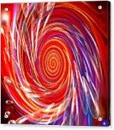 Red Twirl Acrylic Print