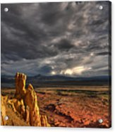 Red Valley Acrylic Print