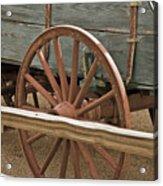 Red Wagon Wheel Acrylic Print