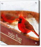 Red Wagon Winter Acrylic Print