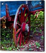Red Wheel Acrylic Print