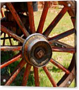 Red Wheels Acrylic Print