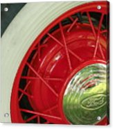 Red Wheels Acrylic Print