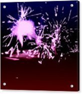 Red White And Blue Fireworks Acrylic Print