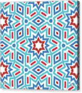 Red White And Blue Fireworks Pattern- Art By Linda Woods Acrylic Print