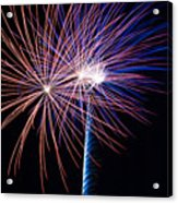 Red White And Boom Acrylic Print