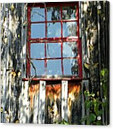 The Red Window Acrylic Print
