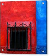 Red Window With Blue By Darian Day Acrylic Print