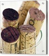 Red Wine Corks Acrylic Print