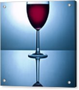 Red Wine With Reflection Acrylic Print