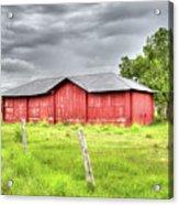 Red Wood Barn - Edna, Tx Acrylic Print