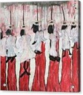 Red Woods Angels Black Like Me Acrylic Print
