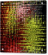 Red Yellow White Black Abstract Acrylic Print