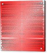 Red.4 Acrylic Print