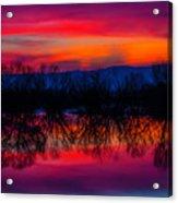 Reddening Sunset Acrylic Print