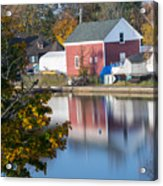 Redd's Pond Boathouse Marblehead Ma Massachusetts Acrylic Print