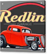 Redline Hot Rod Garage Acrylic Print