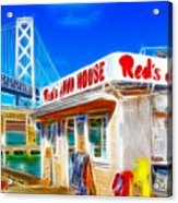 Red's Java House Electrified Acrylic Print