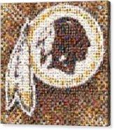 Redskins Mosaic Acrylic Print
