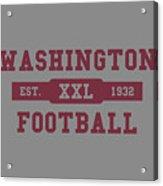 Redskins Retro Shirt Acrylic Print