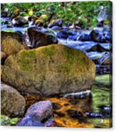 Reeder Creek From Under The Bridge Acrylic Print