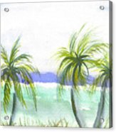 Reef Village Caribbean View Acrylic Print