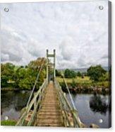 Reeth Swing Bridge Acrylic Print